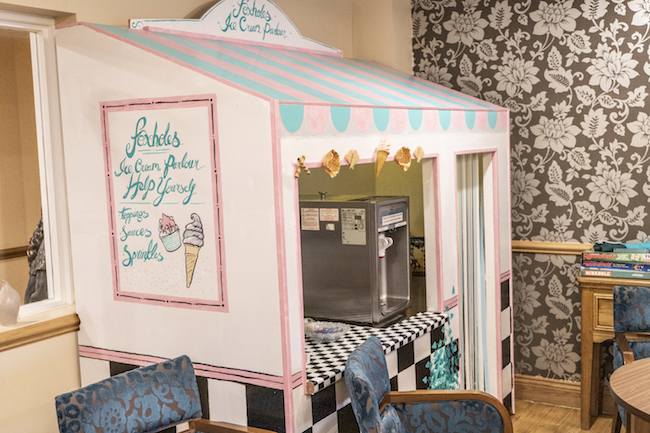 Ice cream parlour at Foxholes in Hitchin Hertfordshire