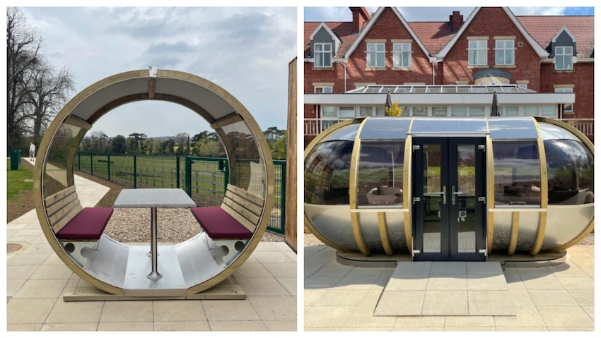 Care home activities: Wellbeing pod at Foxholes Care Home